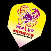 MONSTER DARTS FLIGHTS Standard Mayo Yellow Cat