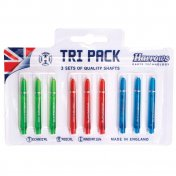 Tri Pack Harrows Darts Supergrip Pro Shaft Medium Colour