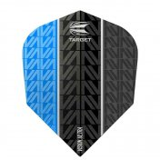 Target Darts Flights Vision Ultra Blue Vapor 8 Black Nº6