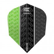 Target Darts Flights Vision Ultra Green Vapor 8 Black Nº6