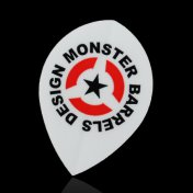 Monster Darts Flight Pear Monster Logo Wihte