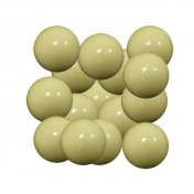 Bola futbolin Resina Color Blanco Brillo 35g 34mm 15 unid