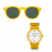 Gafas MrBoho Honey JORDAAN + Reloj Mr. Boho Yellow Sporty 40mm