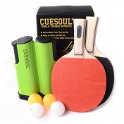 Pack Cuesoul 2 palas + 3 bolas + Red Retractil
