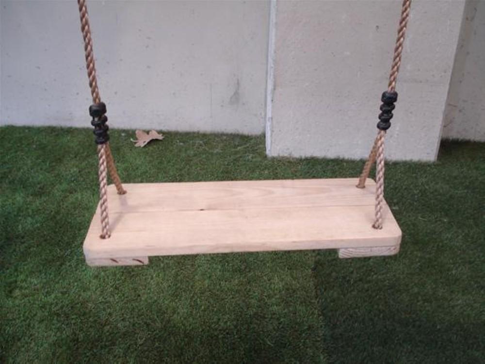Asiento de madera para columpio largo masgames - Como hacer un columpio de madera ...