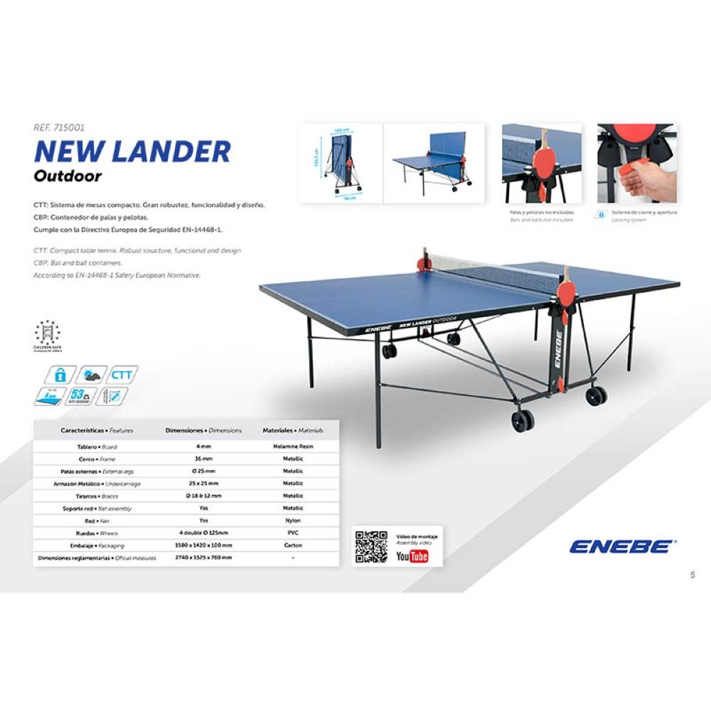 03c308e0f5640 ... Mesa Ping Pong Enebe NEW Lander Outdoor - 3